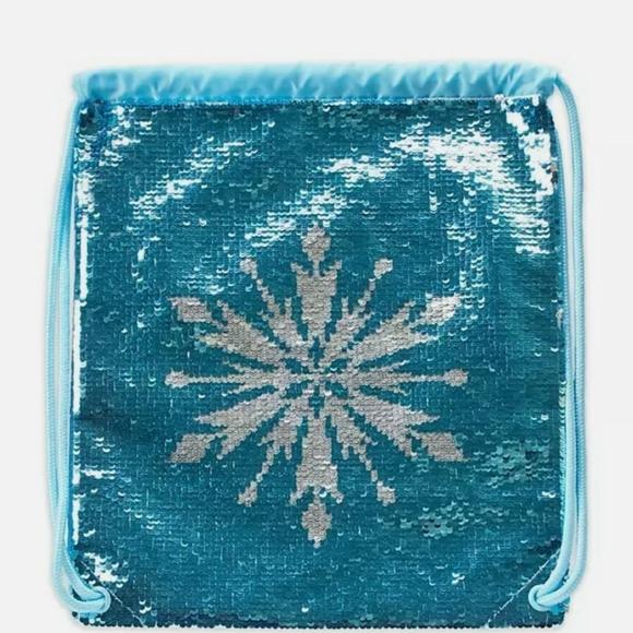 Disney frozen drawstring Sequin backpack